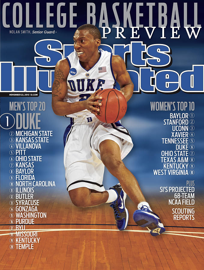 Duke University Nolan Smith, 2010 College Basketball Sports Illustrated Cover Photograph by Sports Illustrated