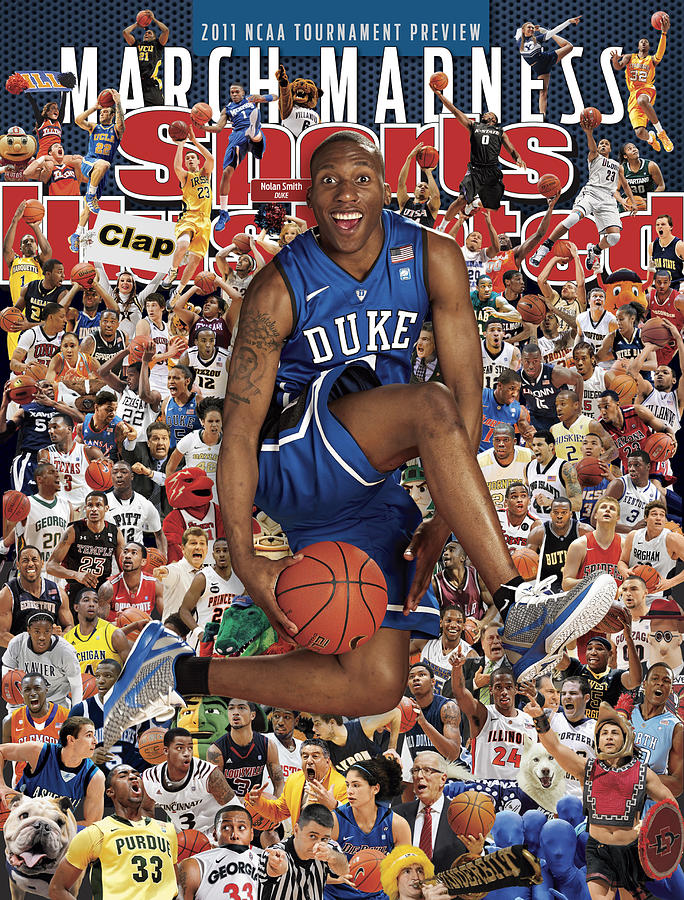 Duke University Nolan Smith, 2011 March Madness College Sports Illustrated Cover Photograph by Sports Illustrated
