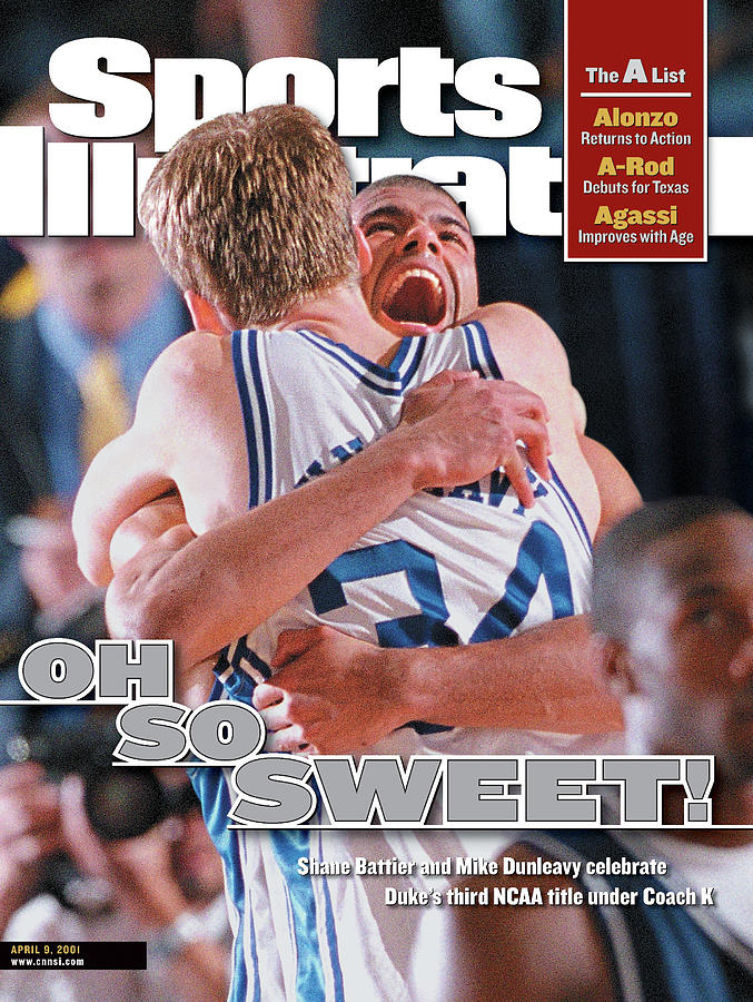 Duke University Shane Battier, 2001 Ncaa National Sports Illustrated Cover Photograph by Sports Illustrated