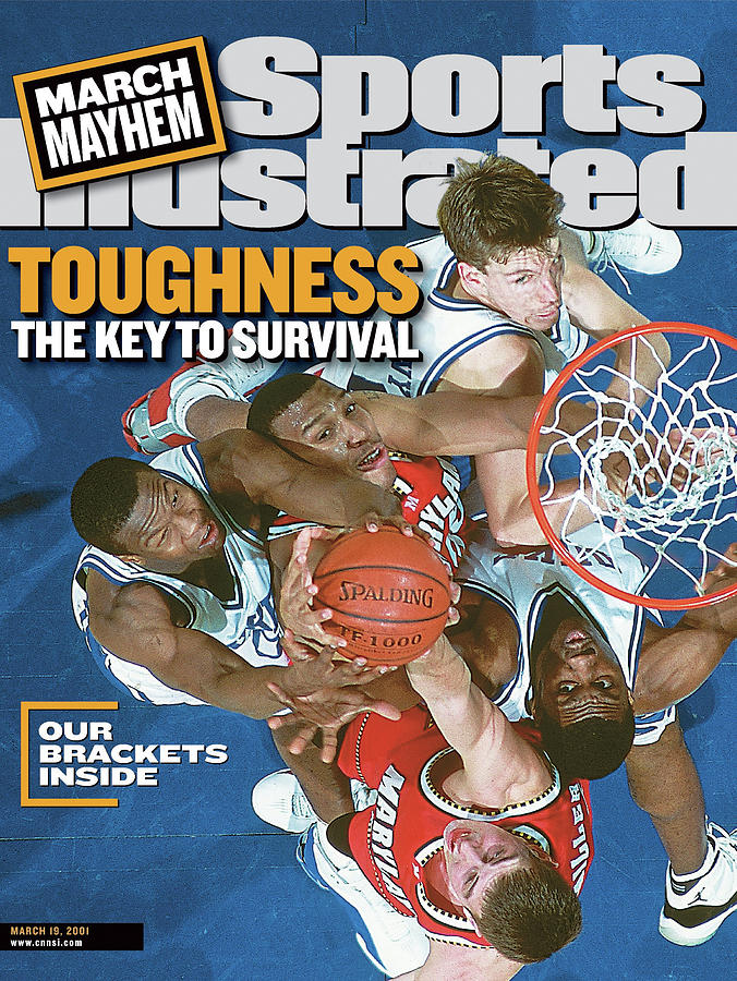 Duke University Vs University Of Maryland, 2001 Acc Sports Illustrated Cover Photograph by Sports Illustrated