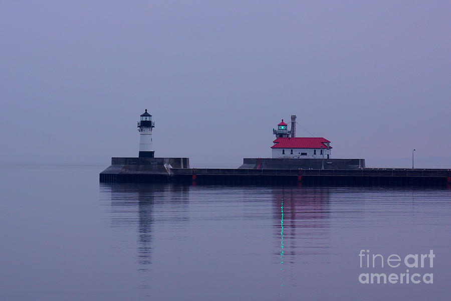 Duluth Breakwater Lights by Kyle Neugebauer