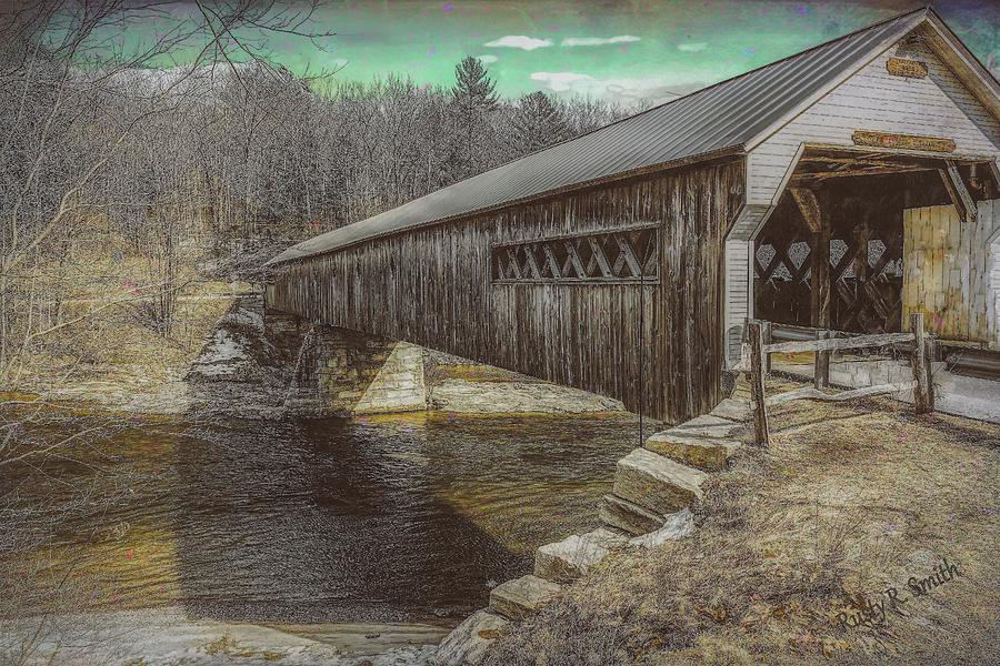 Dummerston covered bridge,Vermont. by Rusty R Smith