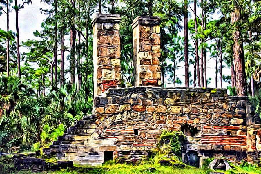 Dummett Sugar Mill Ruins by Alice Gipson