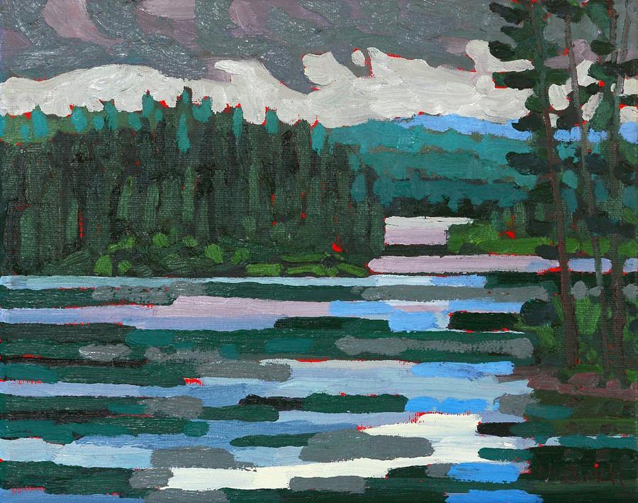 Dumoine Downstream Rain by Phil Chadwick