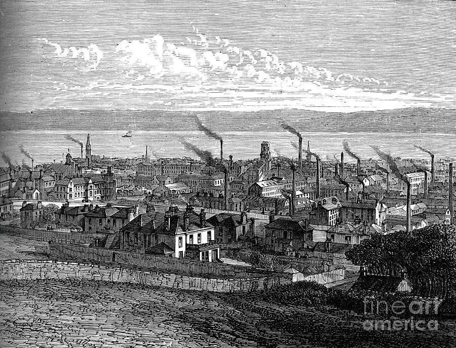 Dundee, Scotland, C1880 Drawing by Print Collector