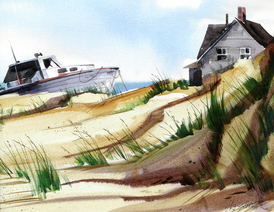 Sand Dune Painting - Dune Docked by Art Scholz