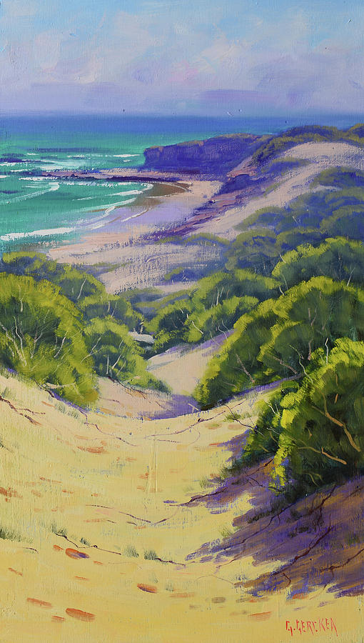 Dunes To The Beach Painting