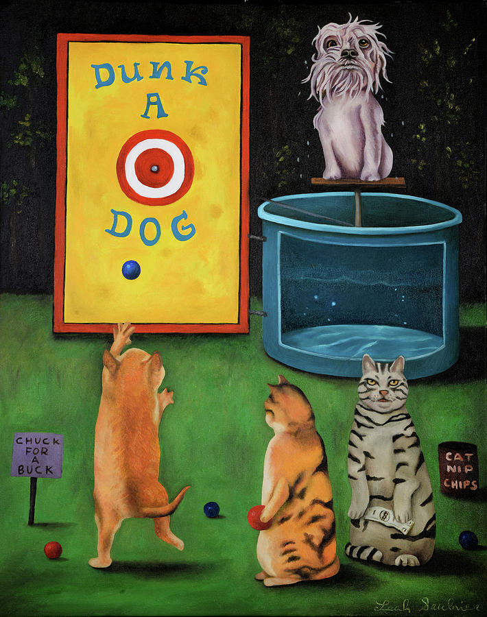 Dunk A Dog by Leah Saulnier The Painting Maniac