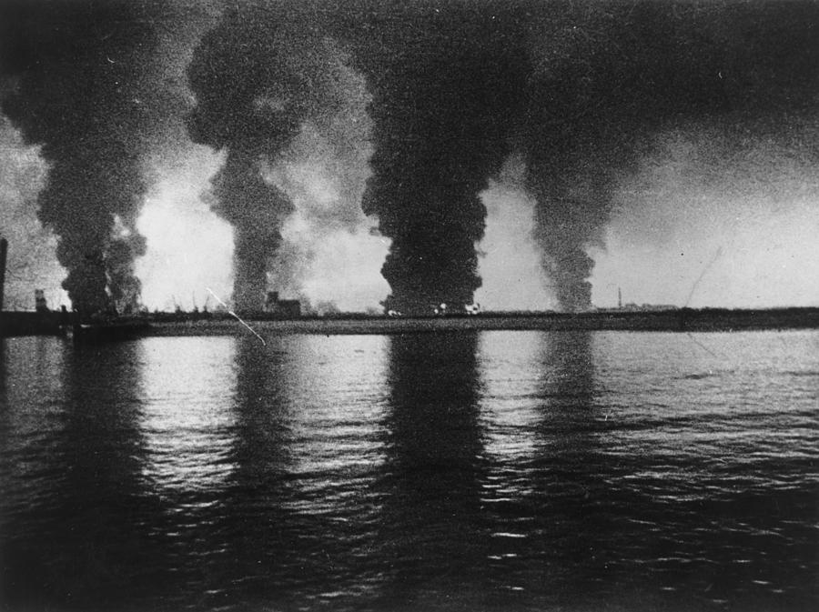 Dunkirk Fires Photograph by Central Press