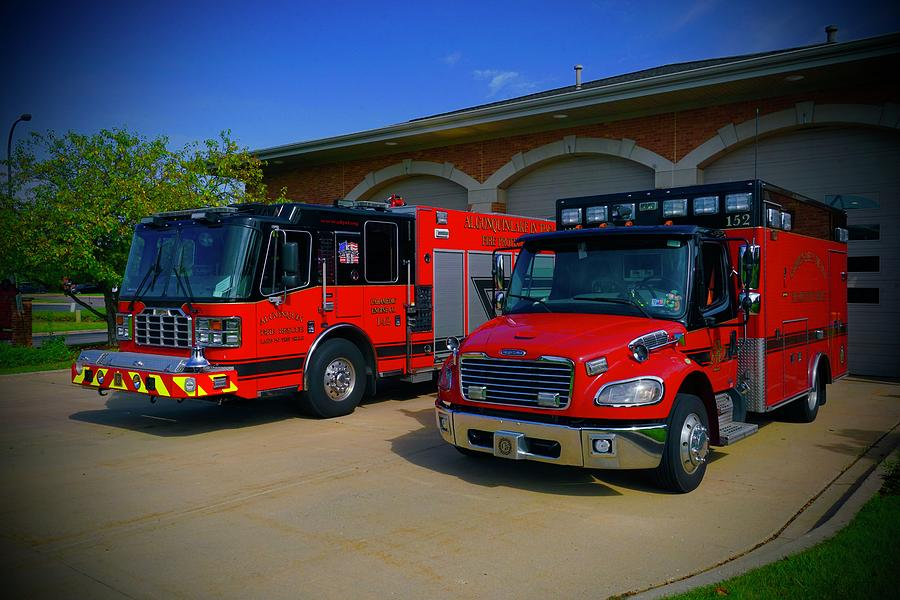 Fire Dept Photograph - Duo At Stn 2 by Tim G Ross