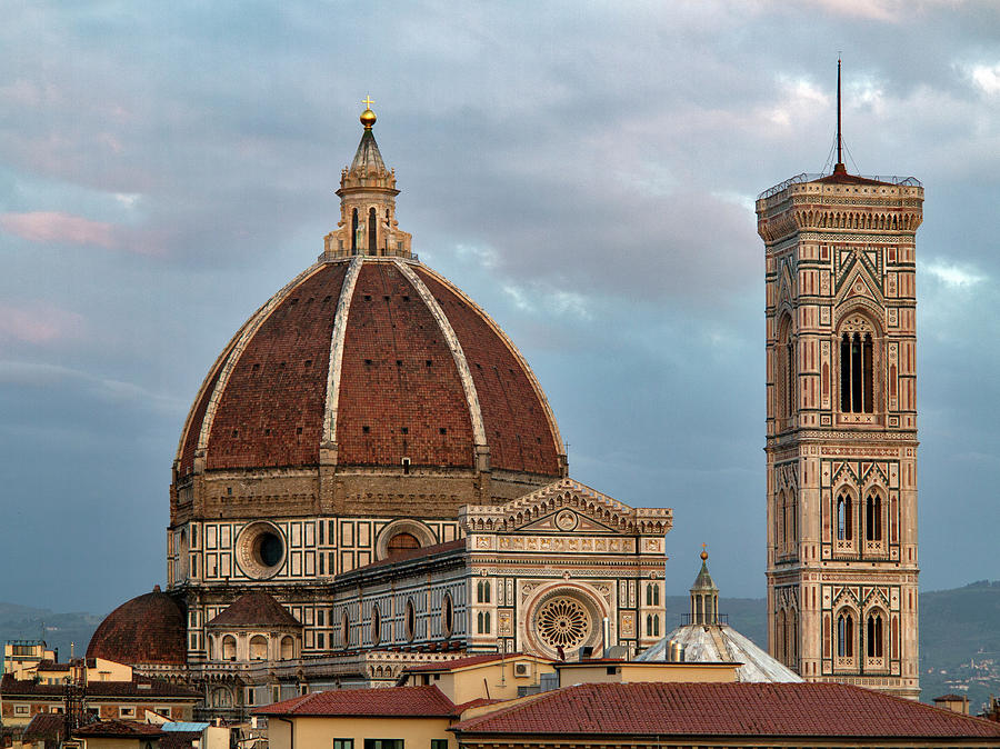 Duomo And Campanile From Nearby Street Photograph by Izzet Keribar