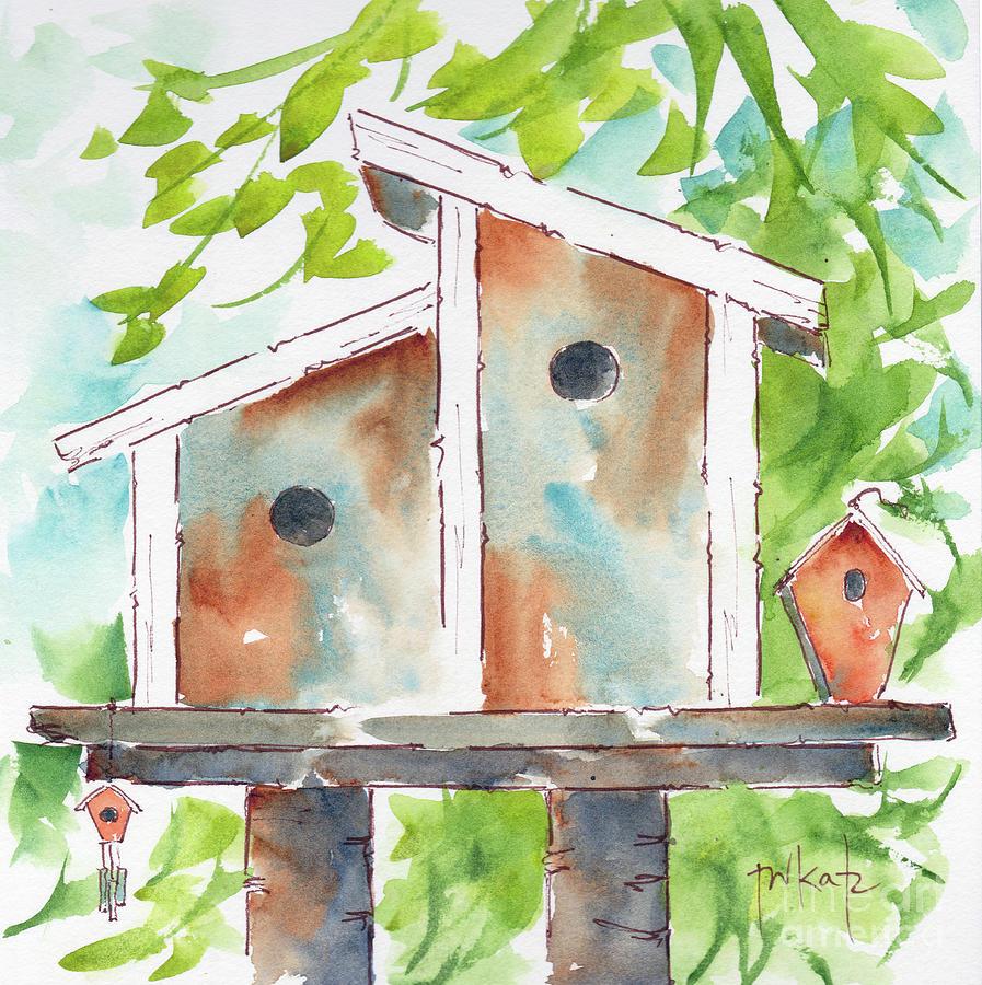 Duplex Birdhouse by Pat Katz