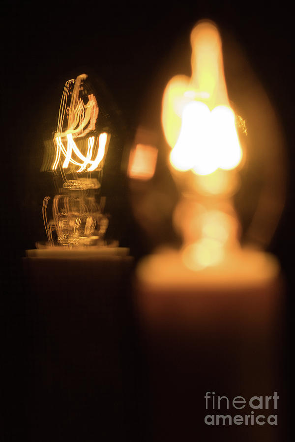 Candle Photograph - Duplications 2 by Nicki Hoffman
