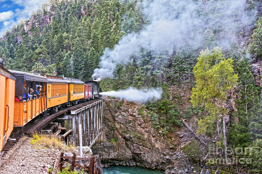 Durango and Silverton Railroad Locomotive Blowdown  by Catherine Sherman
