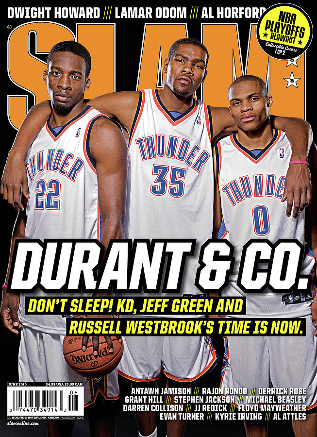 Durant & Co.: Dont Sleep! Jeff Green and Russell Westbrooks Time is Now SLAM Cover Photograph by Atiba Jefferson