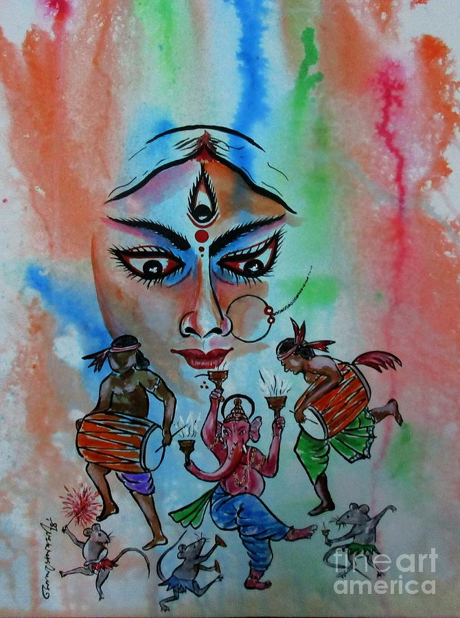 Devi Durga-3 by Tamal Sen Sharma