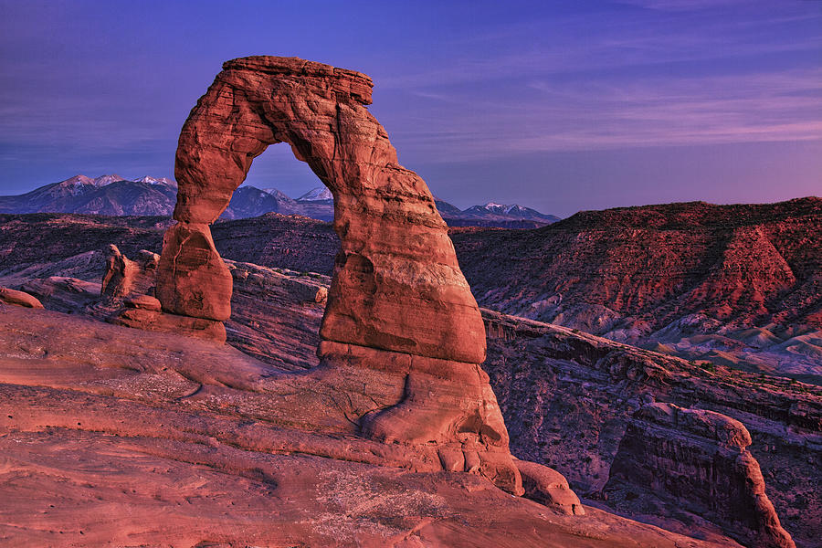 Dusk At Delicate Arch, Arches National Photograph by Michael Riffle