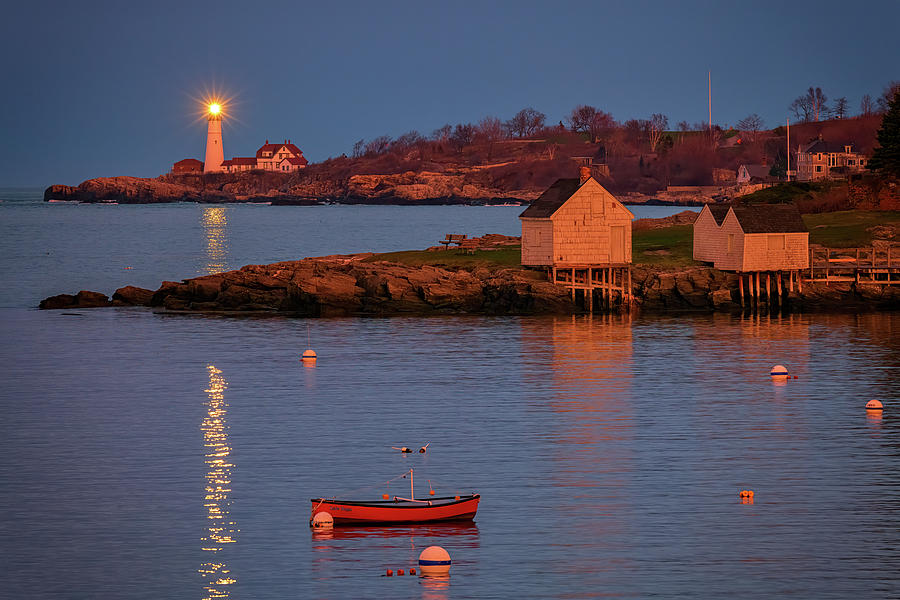 Dusk at Fisherman's Point by Rick Berk