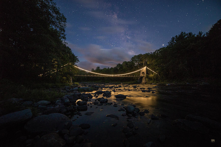 Dusk at the Wire Bridge by John Meader