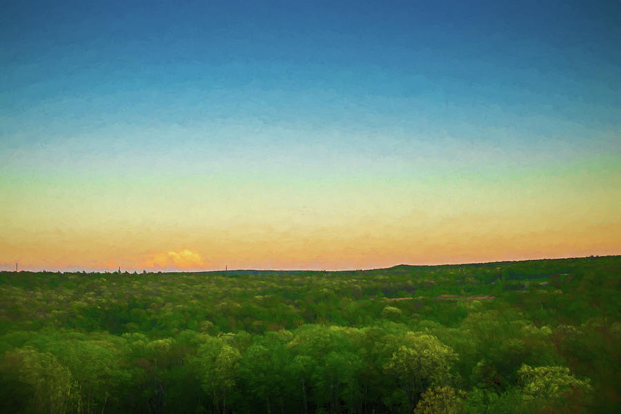 Dusk Falls Over the Pocono Mountains by Jason Fink