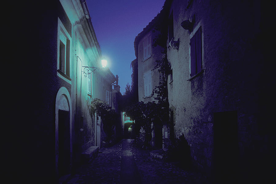Dusk In  Eze, France Photograph by Spencer Grant