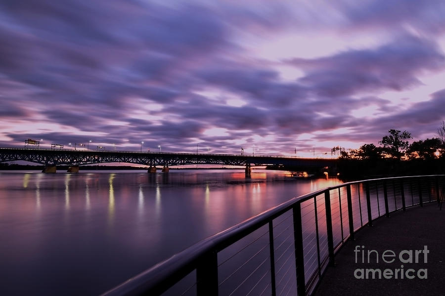 Dusk Near The North Grand Island Bridge by Sheila Lee