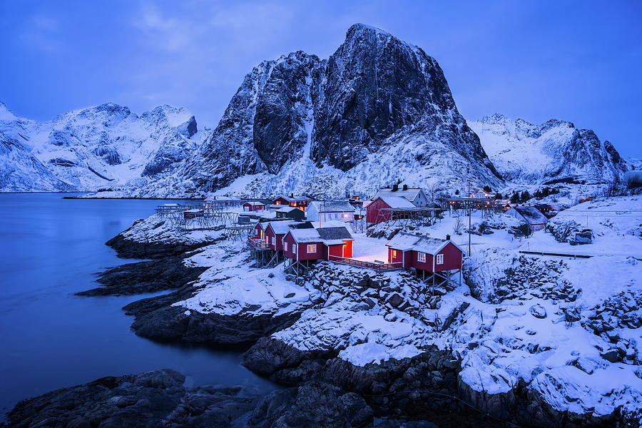 Dusk over Hamnoy by Michael Blanchette