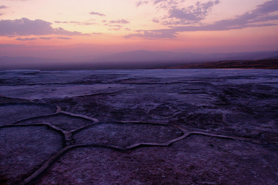 Scenic Photograph - Dusk Over Pamukkale by Wu Swee Ong