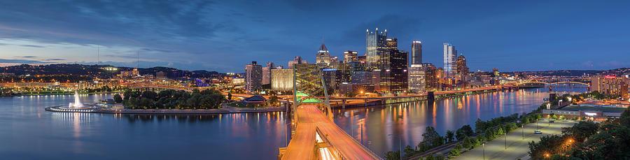 Dusk over Pittsburgh  by Emmanuel Panagiotakis