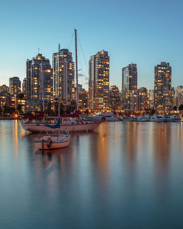 Dusk Over Vancouver Waterfront by Adam Romanowicz