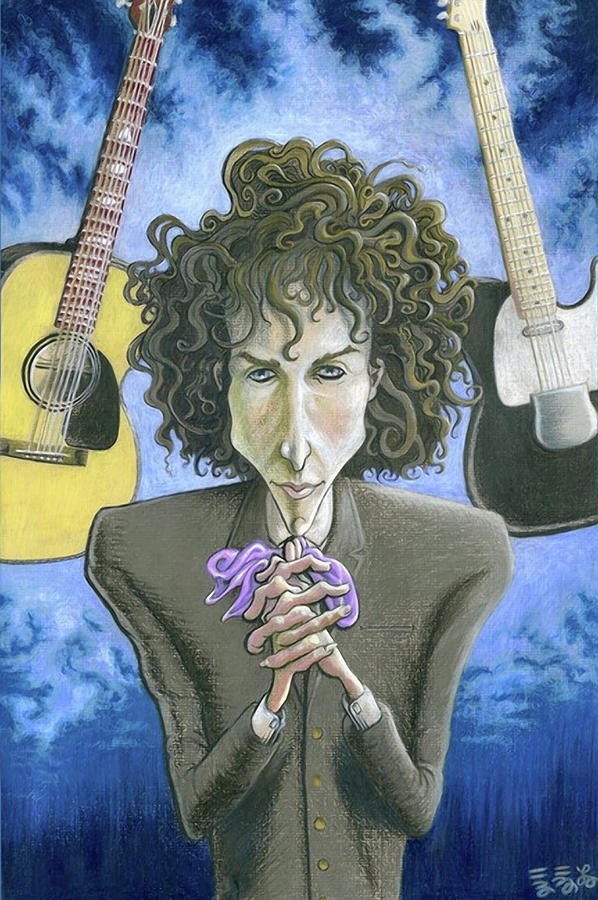 Bob Dylan Painting - Dusky Resolution - Bob Dylan by Ebenlo - Painter Of Song