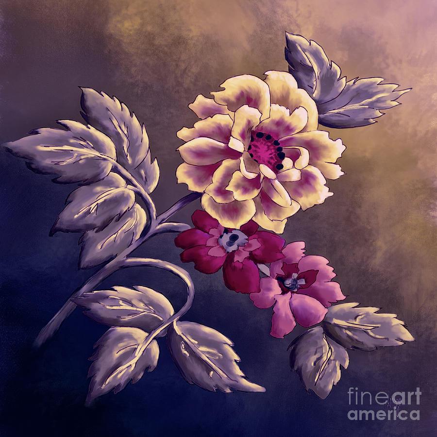Dusky Wild Roses by Lois Bryan
