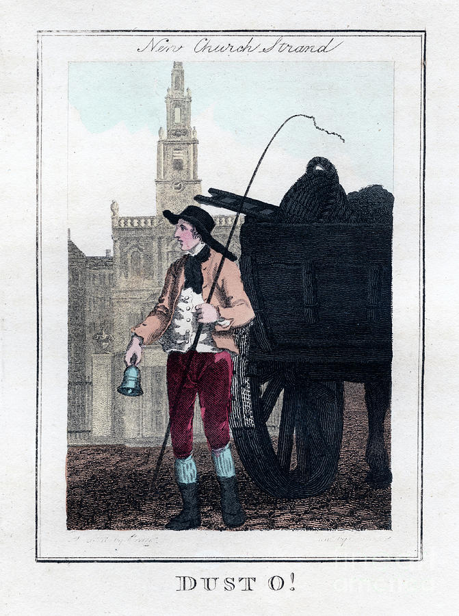 Dust O, New Church, Strand, London Drawing by Print Collector