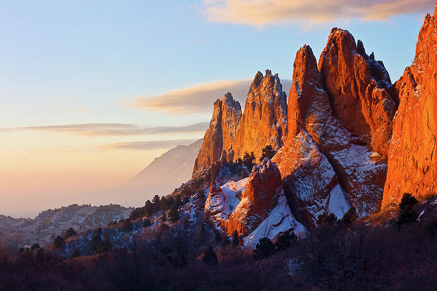 Dusting Of Snow Garden Of The Gods by Ronda Kimbrow Photography
