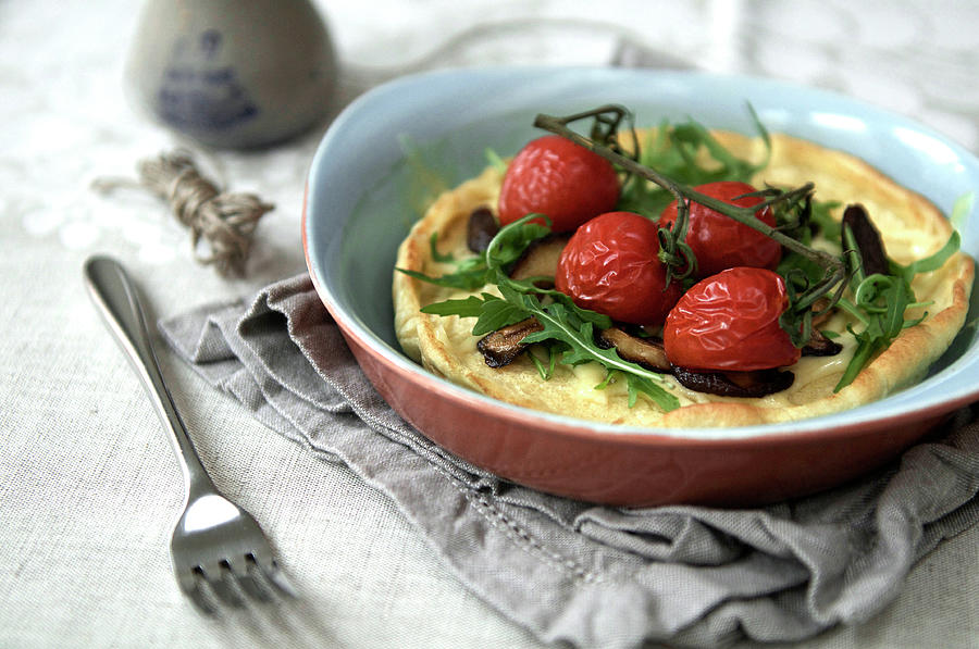 Dutch Babies With Mushrooms Photograph by Marta Greber