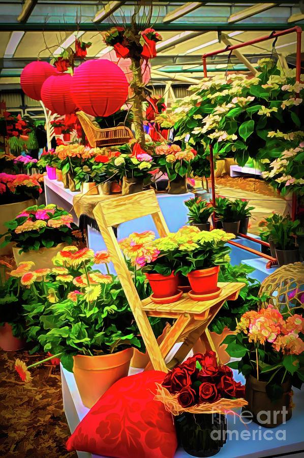 Dutch Floral Shop by Sue Melvin
