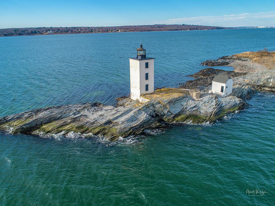 Dutch Island Lighthouse  by Michael Hughes