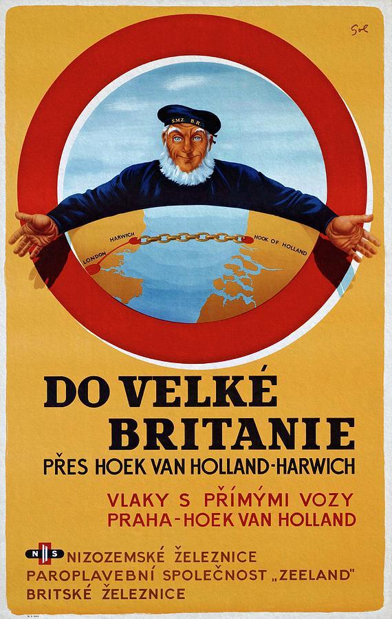 Dutch Railroad 1948 Czechoslovak Vintage Poster by unknown