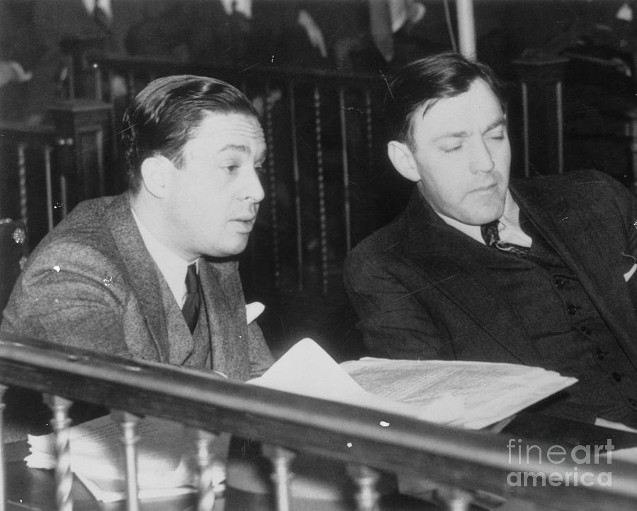 Dutch Schultz And His Lawyer Photograph by Bettmann