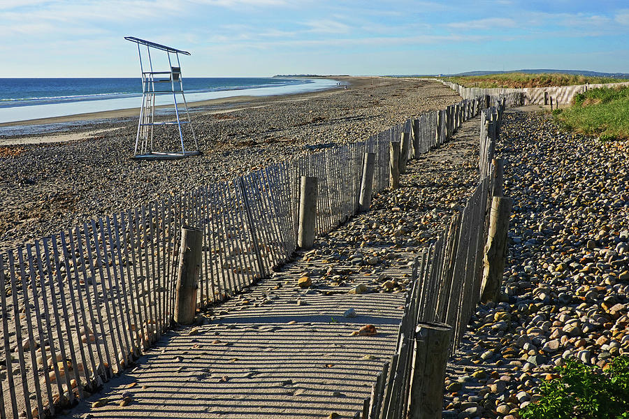 Duxbury MA Beach Fences South Shore Lifeguard Chair by Toby McGuire