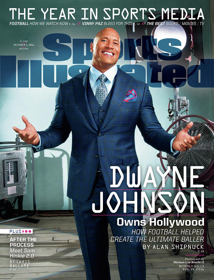 Dwayne Johnson Owns Hollywood And The Year In Sports Media Sports Illustrated Cover Photograph by Sports Illustrated