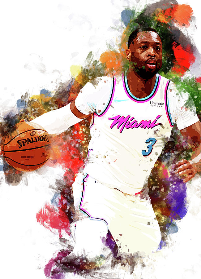 Poster Dwyane Wade Basketball Star Boy Room Art Wall Cloth Print 506