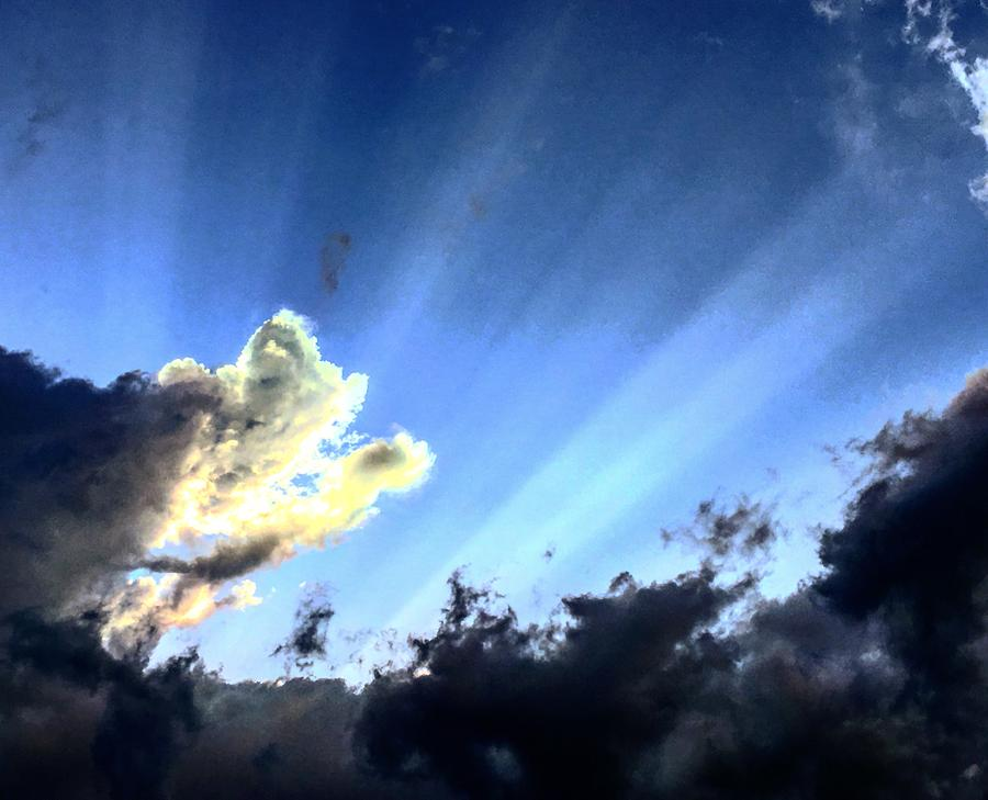 Dying Storm Sun Rays by Michael Oceanofwisdom Bidwell