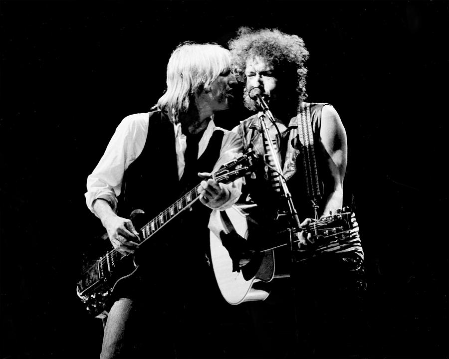 1980-1989 Photograph - Dylan & Petty True Confessions Tour by Larry Hulst