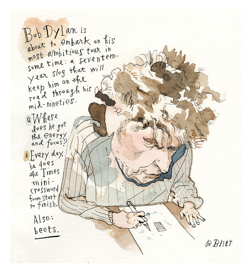 Dylans Secret Revealed Painting by Barry Blitt
