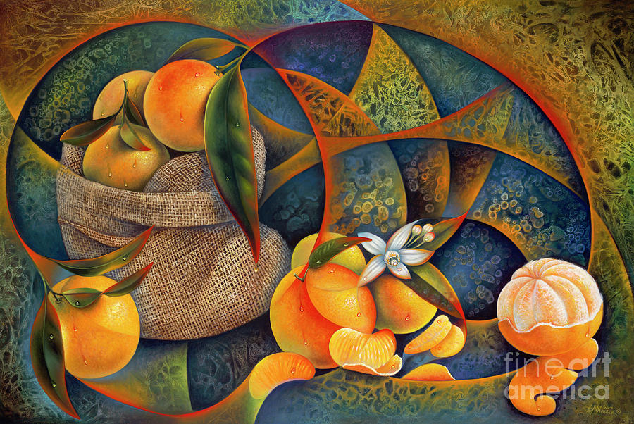 Dynamic Citrus-3d Painting