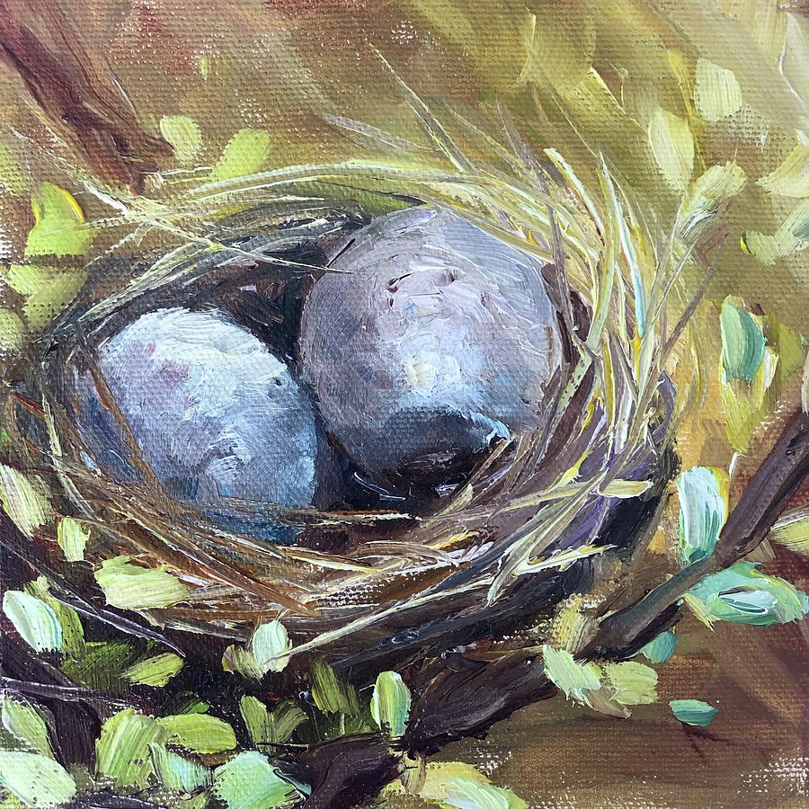 Eggs Painting - Dynamic Duo by Sarah Jane Conklin