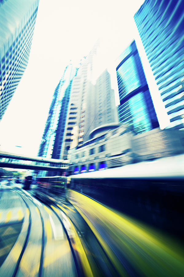 Dynamic Modern City Blur In Motion Photograph by Itsskin