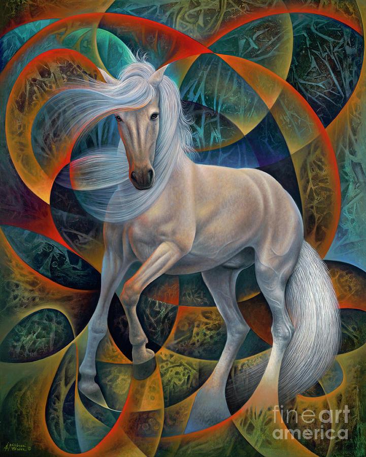 Dynamic Stallion Painting by Ricardo Chavez-Mendez