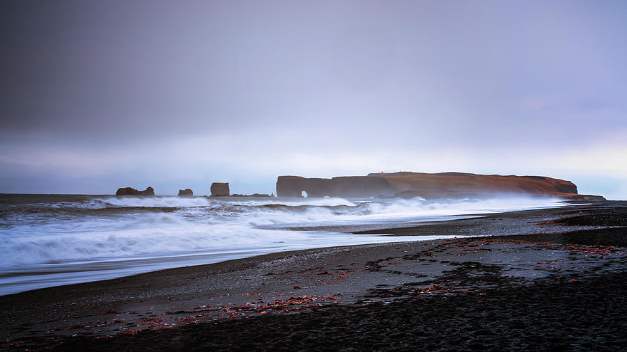 Iceland Photograph - Dyrholaey from Reynisfjara by Framing Places